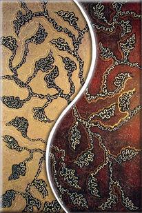 Gemälde, Abstrakt, Braun, Malerei