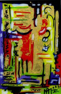 Malerei, Hinter glas