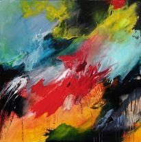 Bewegung und farbe, Abstrakter expressionisumus, Moderne malerei, Zeitgenössische kunst