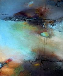 Ruhe, Stille, Moderne malerei, Wasser