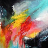 Moderne kunst, Zeitgenössische malerei, Abstrakter expressionismus, Lebhafte textur