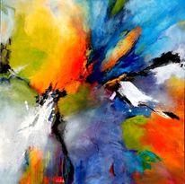Blau, Abstrakte malerei, Expressionismus, Orange