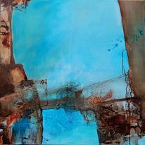 Fantasie, Blau, Malerei, Abstrakt
