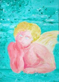 Türkis, Engel, Malerei, Figural