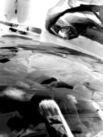 Pinsel, Schwarz weiß, Fotografie, Ausdruck