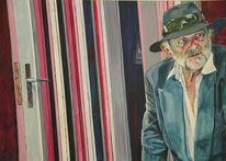 Figurativer realismus, Alter mann, Malerei, Menschen
