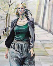Frau, Figurativer realismus, Malerei