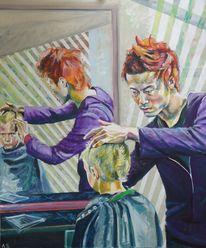 Friseur, Frisur, Malerei