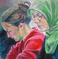 Figurativer realismus, Studentin, Frau, Malerei