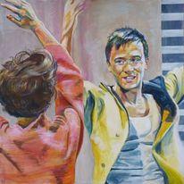 Figurativer realismus, Tänzer, Tanz, Menschen