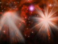 Universum, Rot, Stern, Digitale kunst
