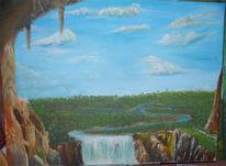 Traum, Landschaft, Dream landschaft, Blau