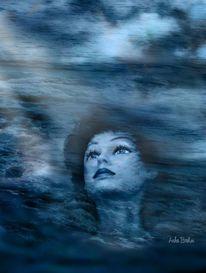 Gesicht, Licht sehnsucht, Meer, Fernweh