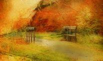 Herbstfarben, Herbst, Brücke, Weg