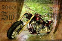 Wertlos, Banknote, Alt, Motorrad