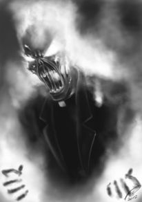 Feuer, Böse, Dämon, Schädel