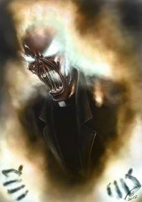 Schädel, Feuer, Böse, Dämon
