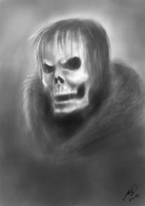 Tod, Böse, Schädel, Digitale kunst
