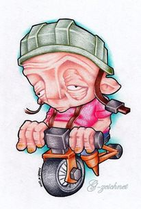 Bike, Junge, Helm, Prismacolor