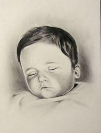 Kind, Zeichnungen, Portrait