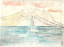 Windhauch, Reise, Aquarellmalerei, Aquarell