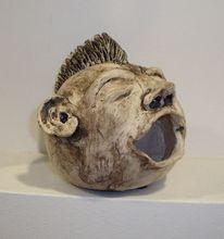 Skulptur, Ton, Kobold, Lachen
