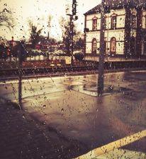 Bahnhof, Regen, Fotografie, Reiseimpressionen