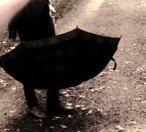 Allein, Regenschirm, Fotografie
