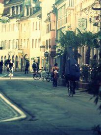 Fahrrad, Haus, Leben, Stadt