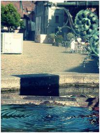 Tropfen, Brunnen, Stadt, Wasser