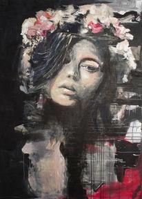 Blumen, Rosen, Neon, Ruhe