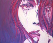 Acrylmalerei, Vanessa uher, Frau, Figural