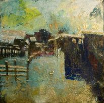Landschaft, Pigmente, Acrylmalerei, Malerei