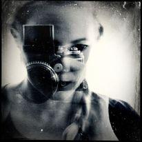Fotografie, Portrait, Selbstportrait, Langzeitbelichtung