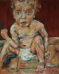 Ölmalerei, Kind, Malerei, Menschen