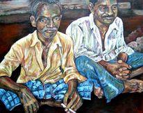 Indien, Ölmalerei, Portrait, Mann