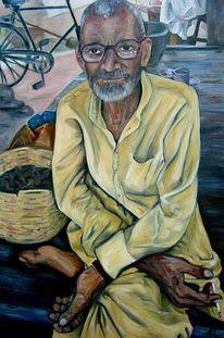 Mann, Ölmalerei, Indien, Malerei