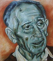 Ölmalerei, Alter mann, Portrait, Malerei