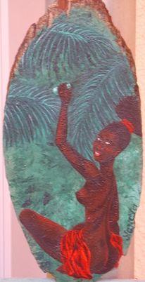 Afrika, Acrylmalerei, Frau, Malerei