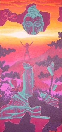 Buddha, Acrylmalerei, Malerei, Erkenntnis