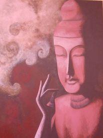 Buddha, Acrylmalerei, Malerei