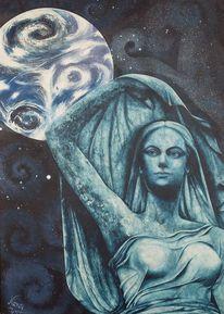 Acrylmalerei, Spirituell, Mutter erde, Weiblichkeit