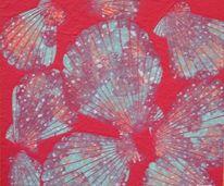 Acrylmalerei, Muschel, Malerei