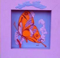 Tiere, Schmetterling, Malerei