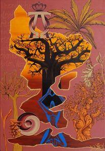 Flora und fauna, Symbol, Yang, Geistwesen