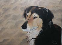Ölmalerei, Portrait, Tiere, Malerei