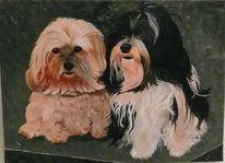 Tiere, Ölmalerei, Portrait, Malerei