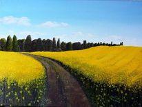 Landschaft, Ölmalerei, Malerei, Romantik
