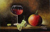 Stillleben, Obst, Ölmalerei, Malerei