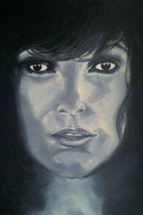 Schwarz weiß, Ölmalerei, Menschen, Gemälde